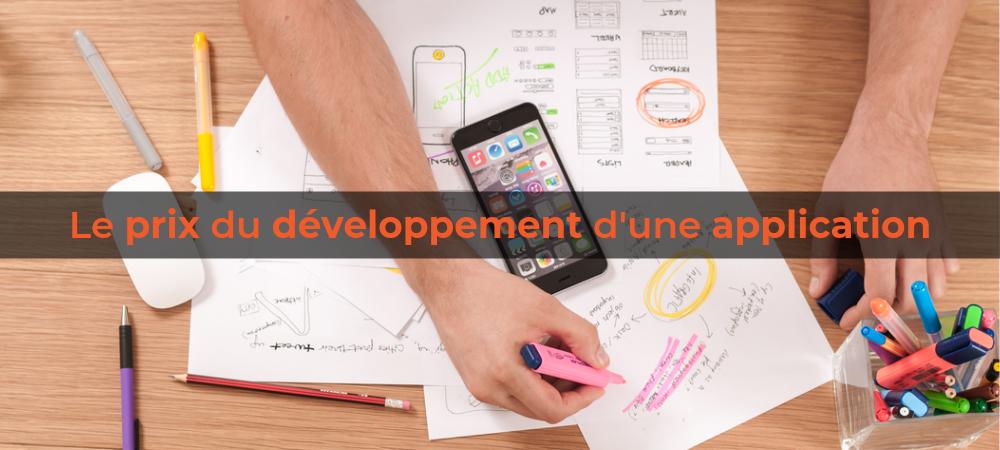Prix développement application