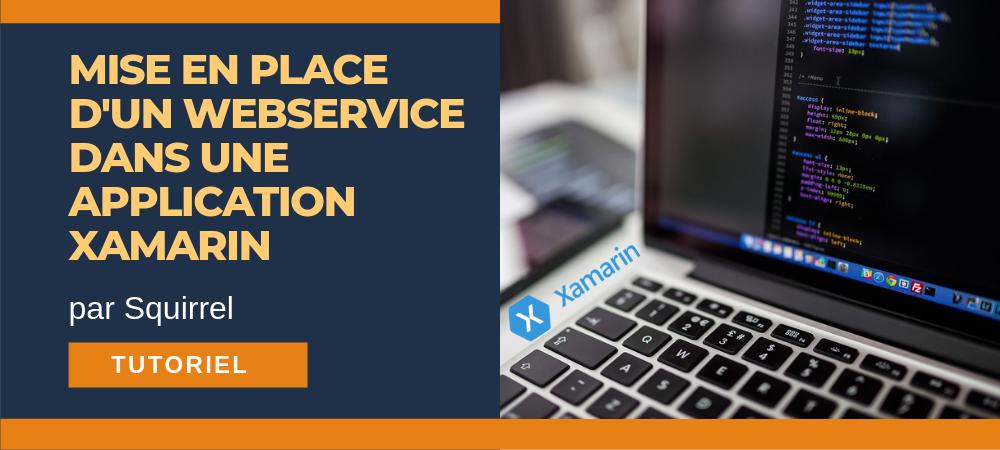 mise en place webservice application xamarin tutoriel