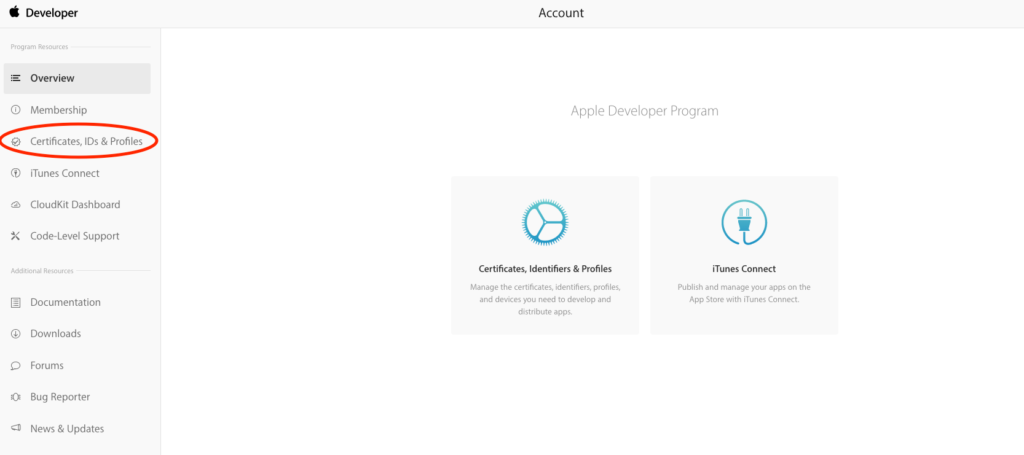 "connexion ""https://developer.apple.com/account/"""
