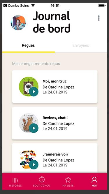 Capture d'écran de l'application mobile Story Enjoy.