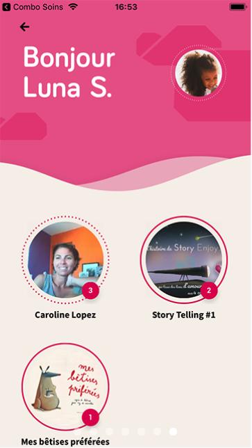 Capture d'écran de l'application mobile Story Enjoy (4).