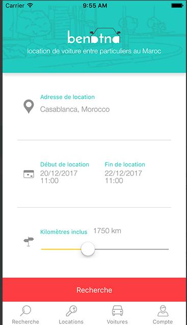 Capture d'écran application secteur automobile Benatna (1)