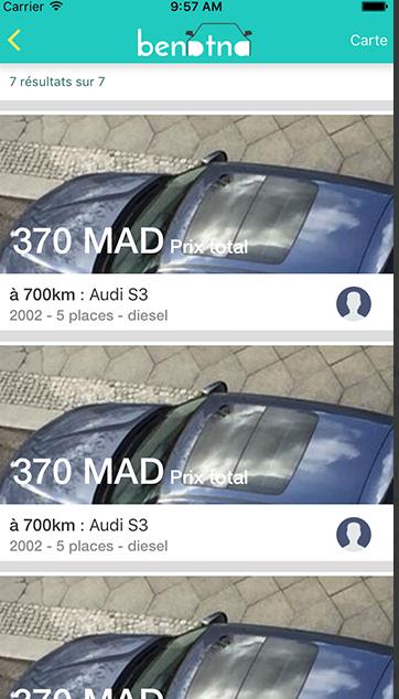 Capture d'écran application secteur automobile benatna (2)