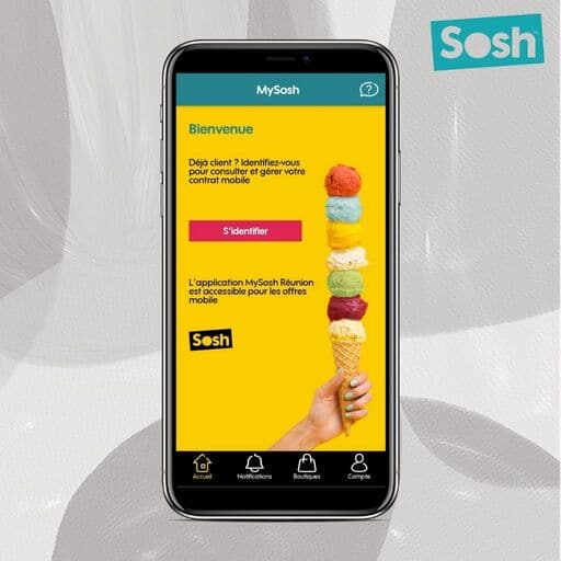 Acceuil application SOSH