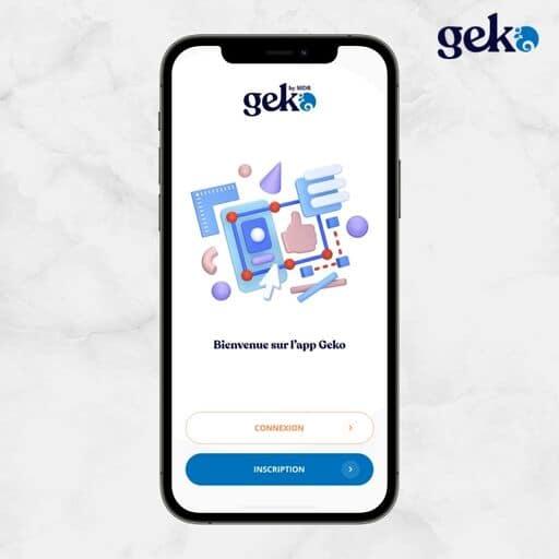 Accueil application Geko