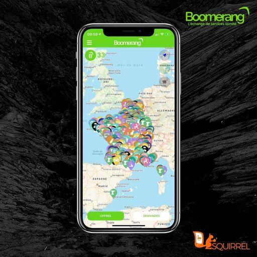 Chercher un service sur la carte de Boomerang
