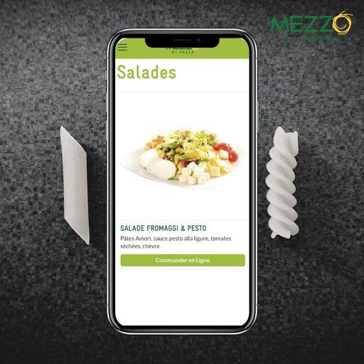 Composer sa salade sur MEZZO