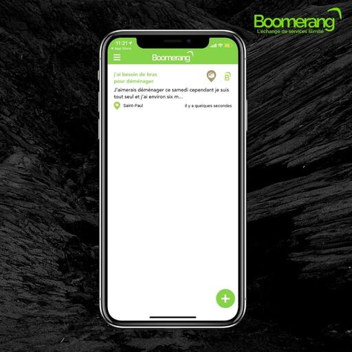 Demander un service sur l'application Boomerang