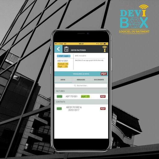 Devis factures sur Devibox