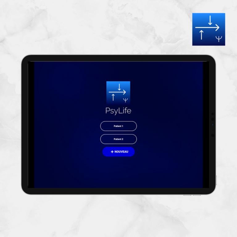 Ecran d'accueil PsyLife