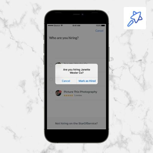 Engager un pro sur l'application SOS Customer