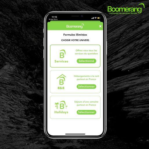 Les formules sur Boomerang