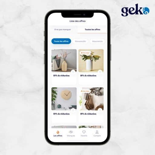 Les offres bons plans sur Geko