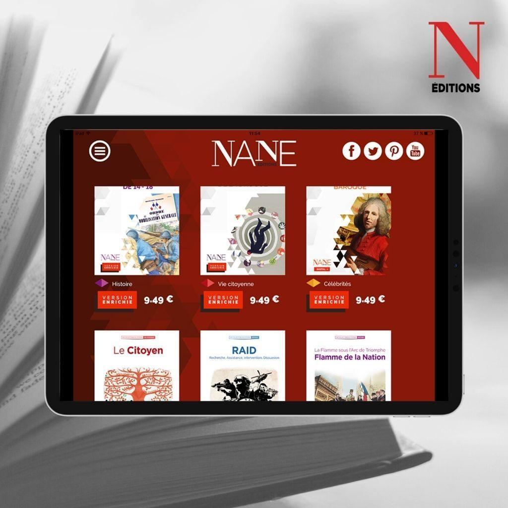 Lire des livres sur l'aplication Nane