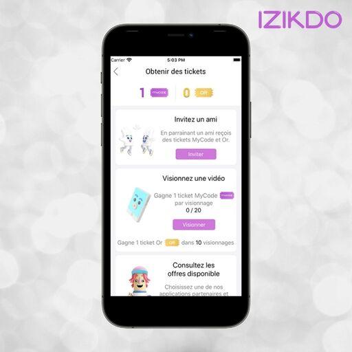 Obtenir des tickets sur Izikdo