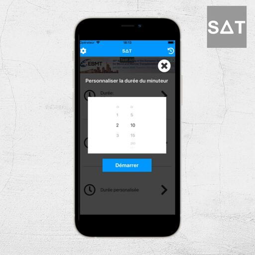 Personnaliser le minuteur sur SAT