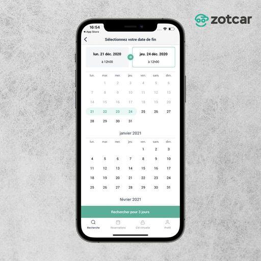 Réserver une date sur Zotcar