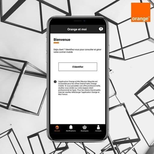Se connecter à l'application Orange et Moi