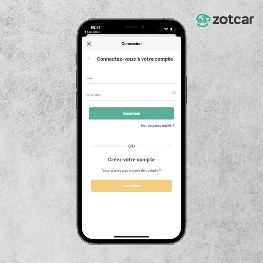 Se connecter à son compte Zotcar