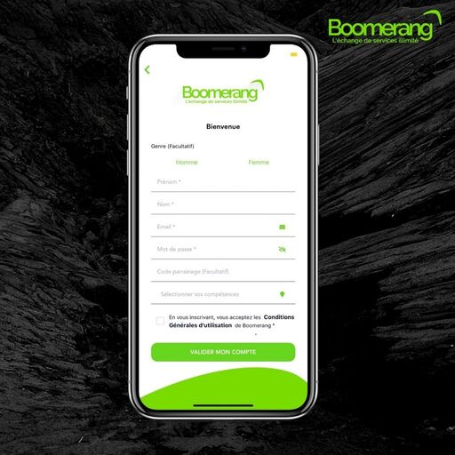 S'inscrire sur Boomerang
