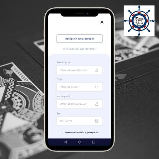 S'inscrire sur l'application Pokernaval