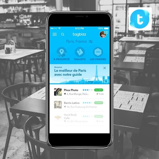 Trouver un restaurant avec Tagbizz