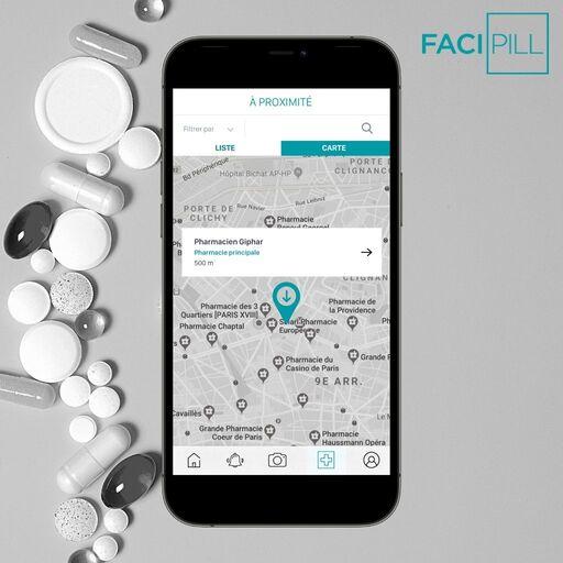 Trouver une pharmacie à proximité sur FACIPILL