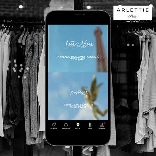 Utiliser l'application Arlettie