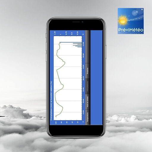 previsions meteo avec application previmeteo