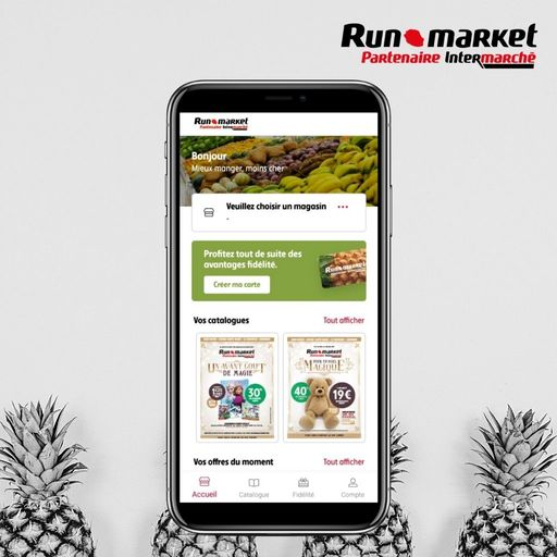 Choisir son magasin sur l'application Runmarket