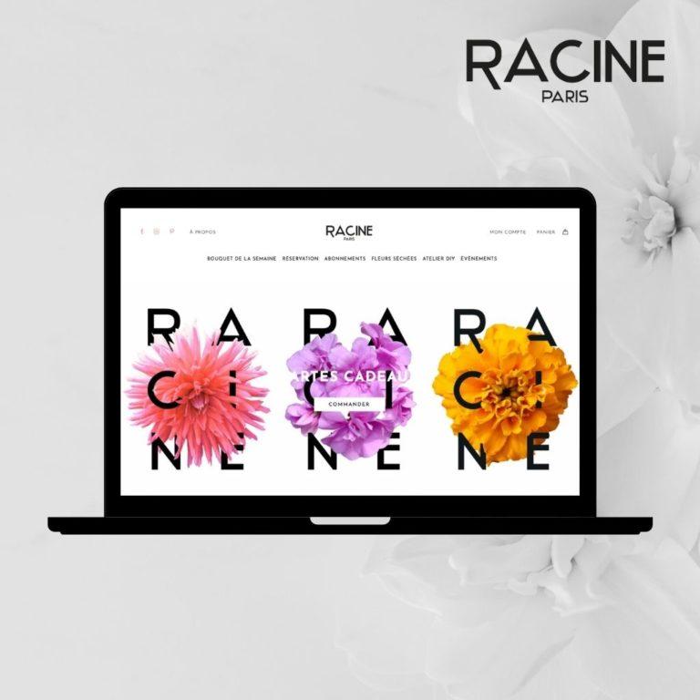 Commander des fleurs chez RACINE PARIS