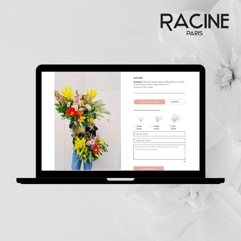 Composer ses fleurs chez RACINE PARIS