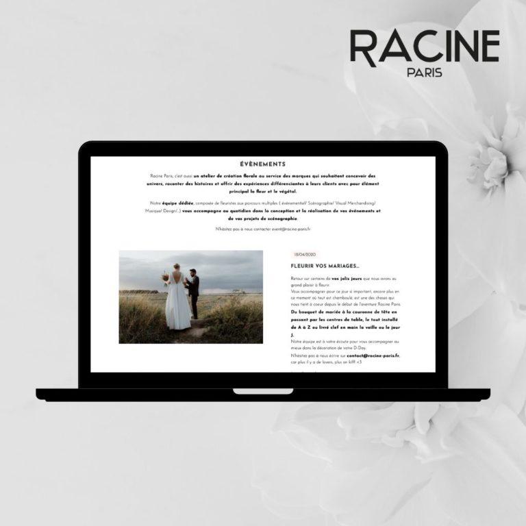 Découvrir le site de RACINE PARIS