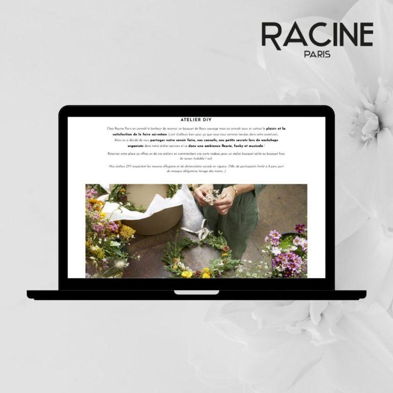 Fleurs chez RACINE PARIS