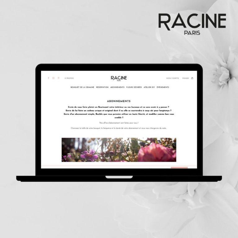 Prendre des fleurs chez RACINE PARIS