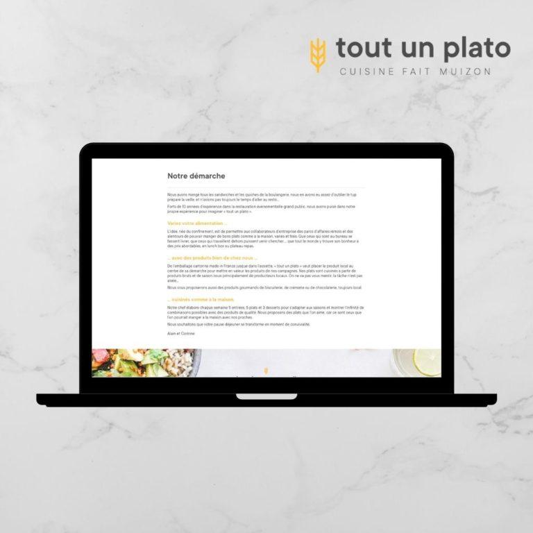 Site Internet TOUT UN PLATO