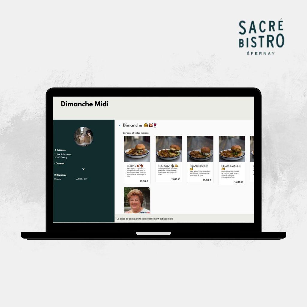 Commander sur le site Sacré Bistro