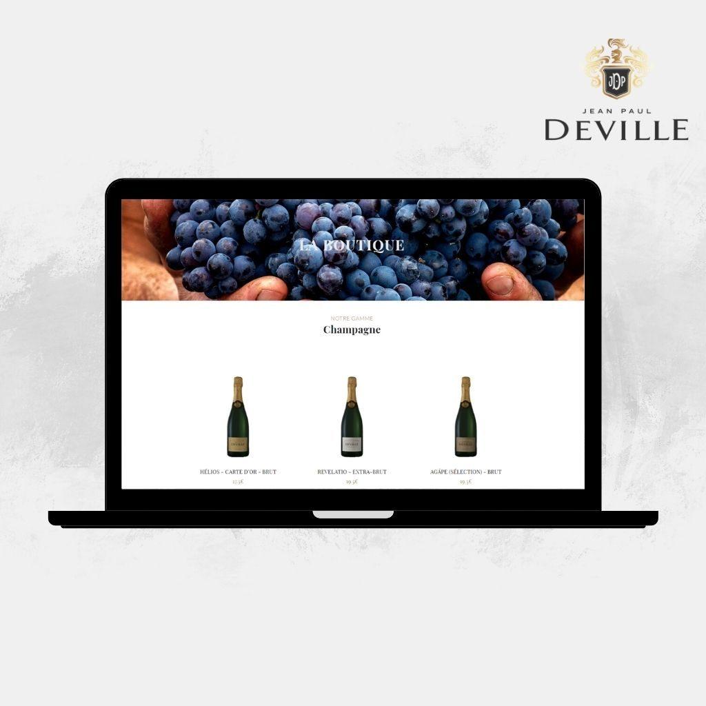 Commander un champagne sur le site Internet Jean-Paul Deville