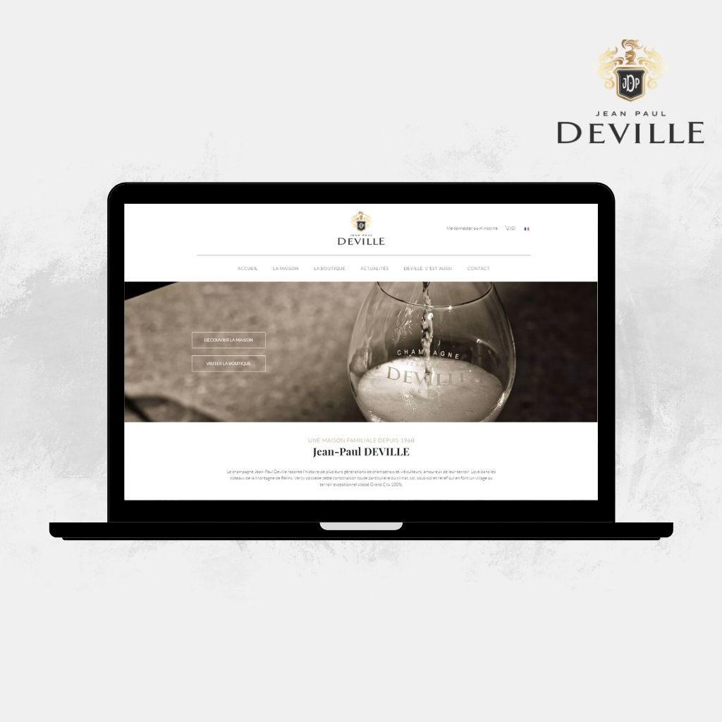 Site Internet Champagne Jean-Paul Deville