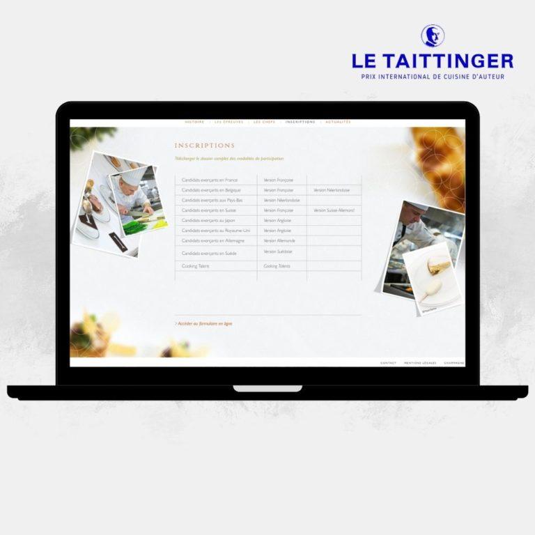 Site Internet Concours Le Taittinger