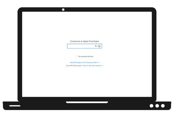 Connexion à Apple Developper