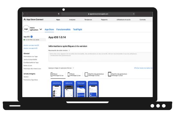 Voir mon application sur Apple Developper